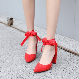 Arden Furtado summer 2019 fashion trend women's shoes pointed toe chunky heels lace up sexy elegant concise mature office lady