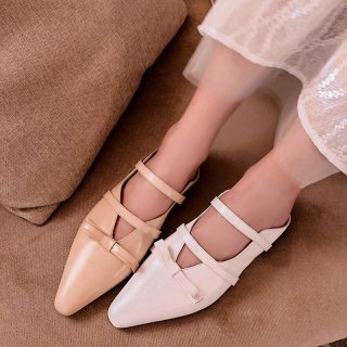Arden Furtado summer 2019 fashion trend women's shoes pointed toe white apricot stilettos heels big size 40 butterfly-knot ladylike temperament