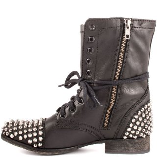 Arden Furtado fashion women's shoes in winter 2019 cross lacing zipper rivet short boots pure color round toe personality matin boots