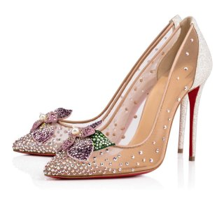 Arden Furtado summer 2019 fashion women's shoes pointed toe stilettos heels flowers wire side pearl crystal rhinestone elegant slip-on mesh flowers pumps