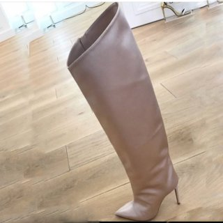 Arden Furtado Europe and America 2019 fashion women's shoes classics open-toed sexy high heels knee high cool boots nude stilettos boots