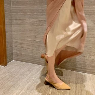 Arden Furtado summer 2019 fashion trend women's shoes pointed toe apricot special-shaped heels big size 43 party shoes  pure color pumps