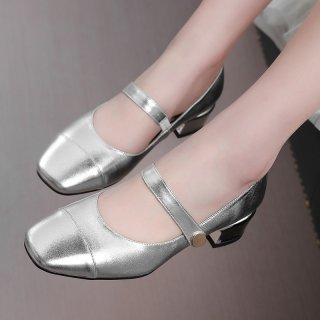 Arden Furtado summer 2019 fashion trend women's shoes square head sexy elegant pure colorconcise pumps small size31 big size 45