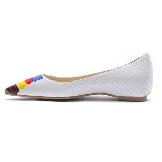 Arden Furtado summer 2019 fashion trend women's shoes pointed toe elegant slip-on mixed colors white red shallow leather