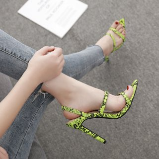 summer 2019 fashion trend women's shoes stilettos heels sandals narrow band elegant concise sexy serpentine