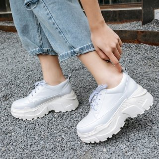 Arden Furtado spring and autumn 2019 fashion women's shoes pure color cross lacing casual shoes classics leather comfortable