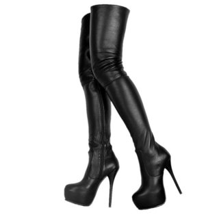 Arden Furtado Fashion Women's Shoes Winter  Sexy Elegant Ladies Boots Pure Color concise Classics Sexy Leather zipper Waterproof Over The Knee High Boots Big size 47