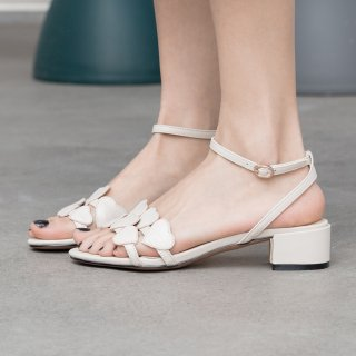 Arden Furtado Summer Fashion Trend Women's Shoes Chunky Heels  Sexy Elegant Pure Color Buckle Sweet Leather Color Sandals