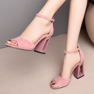 Arden Furtado Summer Fashion Trend Women's Shoes Chunky Heels Concise Sexy Elegant Office lady Sandals Buckle Party Shoes