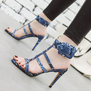 Arden Furtado Summer Fashion Trend Women's Shoes Pointed Toe Stilettos Heels Sandals Buckle Serpentine Concise Classics Big size 48