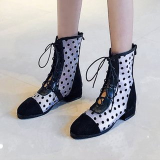 Arden Furtado Summer Fashion Trend Women's Shoes Square Head  Sexy Elegant Ladies Boots Wire side Cross Lacing Big size 43
