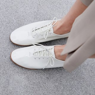 Arden Furtado Spring And autumn Fashion Women's Shoes Pure Color Cross Lacing Round Toe  Leather Concise Classics flats shoes