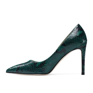 Arden Furtado Summer Fashion Trend Women's Shoes Pointed Toe Stilettos Heels  Serpentine  Sexy Elegant Slip-on Pumps  Leather