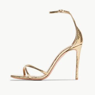 Arden Furtado Summer Fashion Trend Women's Shoes Pointed Toe Stilettos Heels gold Sexy Elegant pure color Sandals Classics