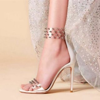 Arden Furtado Summer Fashion Trend Women's Shoes Pointed Toe Stilettos Heels  Sexy Elegant Catwalk Sandals Party Shoes  Back zipper