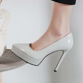 Arden Furtado Summer Fashion Trend Women's Shoes Pointed Toe Stilettos Heels Silver Waterproof Slip-on Sexy Elegant pure color