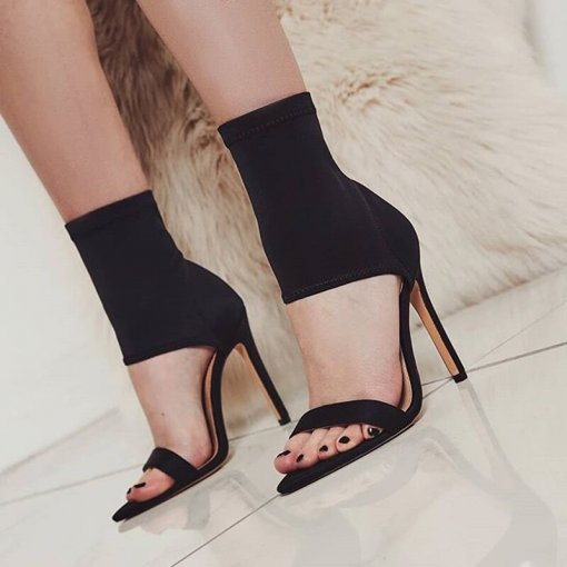 Arden Furtado Summer Fashion Women's Shoes Elegant Stilettos Heels Personality New Party Shoes  Pure Color pvc Sandals Sexy