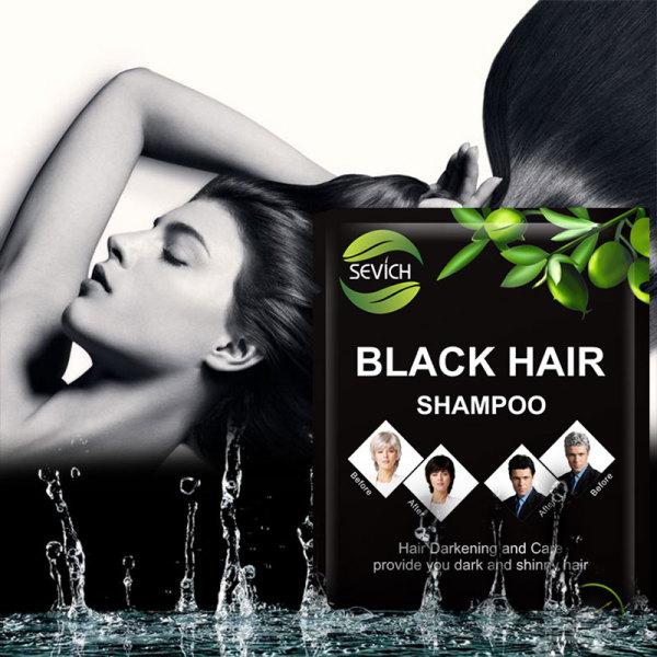 Professional healthy black hair shampoo wholesale fast hair black shampoo 10pcs