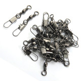 Stainless steel fishing  Barrel Swivels with Interlock Snap  ,rated from 13 LB to 101 LB