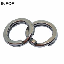 Stainless Steel Fishing  Split Rings,5 mm to 14 mm