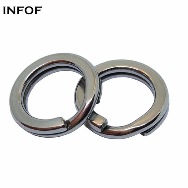 Stainless Steel Fishing  Split Rings,5 mm to 14 mm