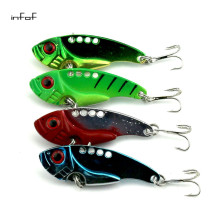 Metal VIBE fishing lures set spoon baits VIB  hard bait bass fishing tackle  vibration lure, 11g/0.388oz 5.5cm/2.16