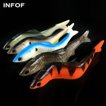 Soft Aluminum Fishing Lure Swimming Minnow 12.7g/13cm Soft Baits Swimmer Swimbait Wobbler Internal Aluminum Adjustable