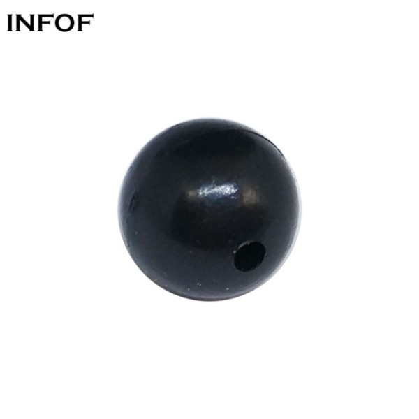 Soft Plastic Fishing Stop Round 3mm-12mm Black Soft Rubber Fishing Beads Rig Carp Fishing Accessories