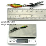 2.5CM/4G Mini Fish Lead Sinker with Treble Hooks Jig Head Hooks  Metal  Trout Baits Saltwater Fishing Lures