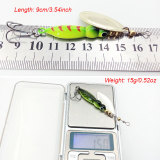 Luminous Spinnerbaits 15g/0.52oz Imitation Insects Spinner Bait Spoon Metal Fishing Lure Spin Night Fishing Gear