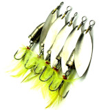 Fishing Spinner Metal Fishing Lures Fishing Spoon bait  Sequins Spoon Lures bass Fishing bait