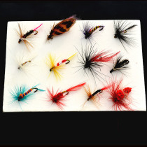 12 Pieces /set   Nymph Fly Trout Fly Fishing Baits Fly Fishing Lure Set Insect Style Artificial Bait With Feather Single Hook