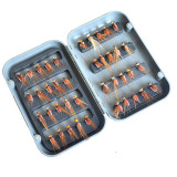 40Pcs/Set Dry Flies Trout Various Artificial Insect Baits Tying Single Hooks Dry Fly Fishing Lures Fly Fishing Flies Box