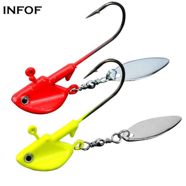 Jig Hook Jighead Fishing Hooks 6g 10g 12g 14g Fishing Jig Head Jigging Worm Hook Single Blade