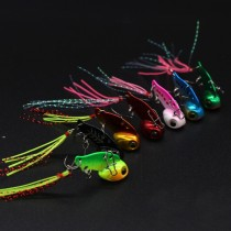 Metal VIB Fishing sink Lure bass Fishing Tackle Pin Feather Crankbait Vibration Spinner Sinking Bait 3 g /6 g