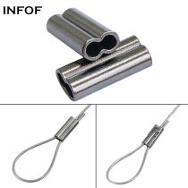 1000 pieces/bag Fishing Wire Crimps Double Sleeves Metal Alloy Tube Fishing Connector Line Hook Link Feeder Carp Fishing Tackle