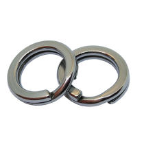 1000pices/bag Fishing Strength Split Rings Stainless Steel Heavy Double Rings Connector Carp Saltwater  Fishing Connector Tackle