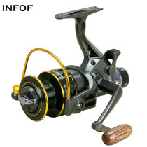 Fishing Spinning Reel Coils Double Drag System 10+1BB Carp Fishing Wheel 3000 4000 5000 6000 Long Casting Reels