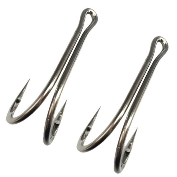 Classic Sharp Durable Double Hooks High Carbon Steel Saltwater Hook Small Fly Tying Fishing Hooks