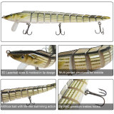 Fishing Jointed Minnow Lures,with High Carbon Steel Anchor Hook, Lifelike Multi Jointed Artificial Swimbait