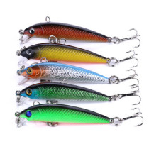 New Minnow Crank Bait fishing Lures with 8# hooks  Hard plastic bait Stick bait fishing lure,3.6g/0.126oz ,5.5cm/2.16