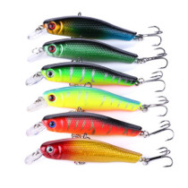 Minnow Lures Hard plastic Bait Fishing lures fishing tackle with 6# hook ,8.9g/0.314oz,8.5cm/3.35in