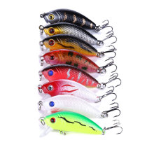 Minnow Fishing lures with 10# treble hooks ,crank baits swim carp fishing baits bass fishing tackle,1.96 /5cm,3.6g/0.12oz
