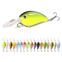 Crankbaits Bass Fishing Lures Set Small Fishing Baits Topwater Hard Lures, Sharp Treble Hooks for Trout Minnow Popper Walleye Crappie