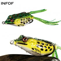 Topwater Frog bait  8g/10g/14g Soft Fishing Lure Silicone Artificial Bait Frogs For Snakehead Fishing Tackle
