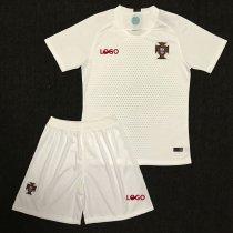 2018 Russia World Cup Adult Portugal Away White Soccer Kits Man Replica Soccer  Uniform Football Jersey b06ccb4ad