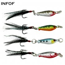 0.98in/0.17oz Mini Fish Lead Sinker with Treble Hooks Jig Head Hooks  Metal  Trout Baits Saltwater Fishing Lures