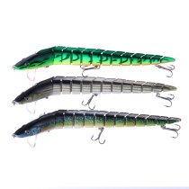 10 pieces/bag  Multi-section Fishing Bait  9.05  / 1.62OZ   ribbonfish  Sea  Fishing Jointed Lure with 3 Treble Hooks Big Game Fishing Lures for Sale