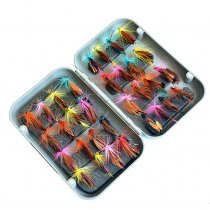 32 pieces/set  Fly Fishing Bait Artificial Butterfly Dry Fly Flies Hooks Durable Fishing Accessories Fly Bionic Hook Wing Lure