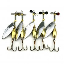 10pcs 9.8cm 16g Spinner bait Spoon Fishing Lure Fishing Spoon Lure pesca Metal Jig Lure buzz bait Bass Fishing Tackle